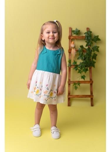 Mininio Yeşil Kuş Baskılı Dokuma Elbise (9ay-4yaş) Yeşil Kuş Baskılı Dokuma Elbise (9ay-4yaş) Yeşil